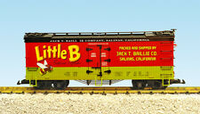 USA Trains G Scale 16462 U.S. REEFER CAR Little Bee Vegetables – Red/Green/Black
