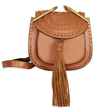 Chloe Mini Hudson Leather Crossbody Bag - Caramel