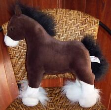 GUND Horse Pony Plush Toy Doll ~ CLYDE ~ Clydesdale Brown White 13""