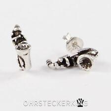 Ohrstecker Saxophon Echt Silber (925-Silber) Neu