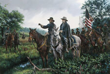 """New Day at Appomattox"" John Paul Strain Studio Canvas Giclee - Lee and Grant"