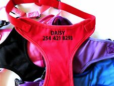 Personalized Embroidered Dog Harnesses GO GO CUTE PUPPY