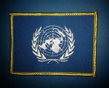 Vintage United Nations UN Flag Hat Jacket Biker Vest Backpack Travel Patch Crest