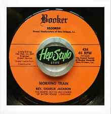 REV. CHARLIE JACKSON 45 RE -MORNING TRAIN - FANTASTIC BOOKER GUITAR GOSPEL STOMP