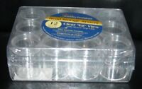 NEW Clear BEAD FINDINGS Storage Case--12 boxes JEWELRY container organizer