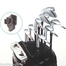14pcs Golf Club Organizers Clip Power Holder Protect Iron Driver Putter Bag