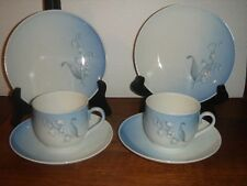 2 TRIO Coffee sets LILY OF THE VALLEY Convalla  Bing & Grondahl Royal Copenhagen