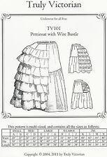 Schnittmuster Truly Victorian  TV 101: Petticoat with Wire Bustle