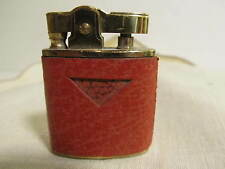 Small Vintage Pocket/Purse Lighter Brass and Leather.