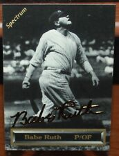 1993 SPECTRUM HOLDINGS BABE RUTH 24K GOLD SIGNATURE CARD #d /5000 NY YANKEES