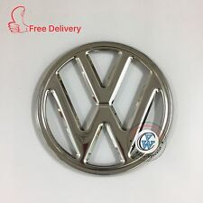"EMBLEM FRONT ""VW"" 250mm 4 PRONG FITS VOLKSWAGEN TYPE2 BUS 68-72  Stainless Steel"