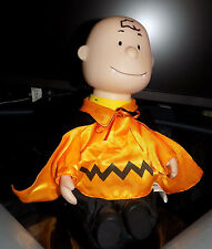 CHARLIE BROWN PEANUTS MUSICAL CHARACTER DOLL MOVABLE HEAD HALLOWEEN COSTUME RARE