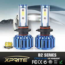 Xprite B2 Blue H8 H9 H11 COB CREE LED Headlight Conversion Kit 60W 6k 8k White
