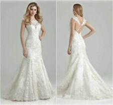 Lace Mermaid White/Ivory Wedding Dress Bridal Ball gown Size 6 8 10 12 14 16++++