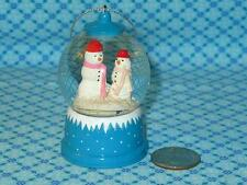 Martha Stewart Mini SNOWMAN SNOWGLOBE Water Globe Christmas Tree Ornament