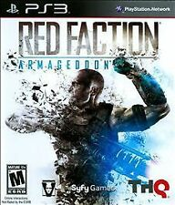 Red Faction Armageddon PS3 NEW! ALIEN, WAR, HELL ON MARS, FIGHT, WEAPONS, GUN