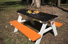 Timber wooden children kids outdoor picnic table