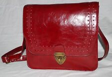 Mossimo Burgundy Faux Leather Messenger Crossbody Bag with Adjustable Strap