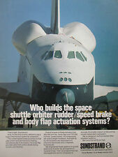 1977 PUB SUNDSTRAND NAVETTE SPACE SHUTTLE ORBITER SPEED BRAKE FLAP ACTUATION AD