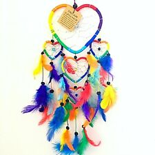 Dreamcatcher Dream Catcher Rainbow Heart Multi Feather Native American Indian