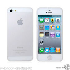 New Apple iPhone 5/5s Thin Clear/Transparent Silicone Gel Case - UK Stock