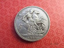 1898 UK QUEEN VICTORIA OLD HEAD STERLING SILVER CROWN - LXII edge