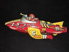 1939 Marx Flash Gordon Rocket Fighter Tin Wind Up Space Ship Works / Real Deal!