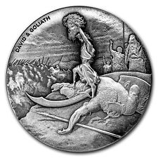 2015 Biblical Series | David & Goliath | 2 oz Silver Coin - 1,499 ROUNDS MINTED
