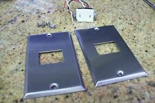 2 GE REMOTE CONTROL SS SWITCH PLATES  FOR RR7 AND RR8  SYS-- SWITCH NOT INCLUDED