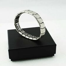 Gift Titanium Steel Germanium Health Bracelet Power Nano Energy Magnetic Silver