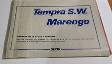 FIAT TEMPRA S.W. Marengo LIBRETTO DI USO E MANUTENZIONE Varianti del manuale