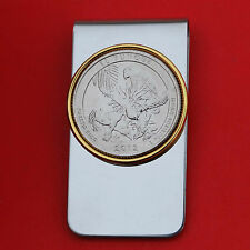 2012 Puerto Rico El Yunque National Forest BU Quarter Coin Two Toned Money Clip