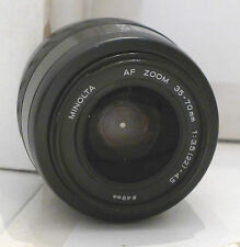 Minolta Film Camera Lens 49mm AF Zoom 35-70mm 1:3.5-4.5  - TESTED