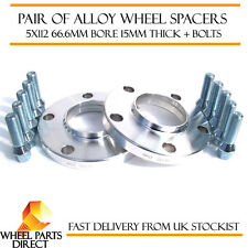 Mercedes Merc Alloy Wheel Spacers Spacer Kit 5x112 66.6 15mm + 12x1.5 Bolts