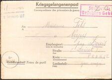 GUERRE 39/45 COURRIER PRISONNIER DE GUERRE STALAG KRIEGSGEFANGENENPOST 1943