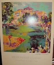 Leroy Neiman Westchester Golf Classic Golfing Signed Lithograph Poster, Last One