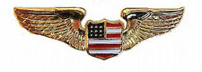 GOLD Pilot/Aviation USA Crest EMBLEM - Honda Goldwing GL 1100 1200 1500 1800