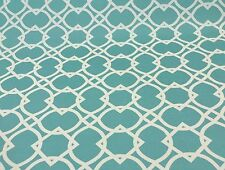 RICHLOOM ECLIPSE POOL BLUE TRELLIS LATTICE OUTDOOR FURNITURE FABRIC BY THE YARD