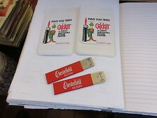Tobacciana , Chesterfield , Cricket , Virginia Slims ,Box Cutter , Shirt Protect