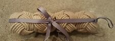 Set of Four Light Brown Rope Knot Napkin Rings - Brand New-Dining Room/Kitchen