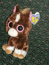 """Ty Beanie Boos  ~ DAKOTA the 6"""" Horse (  2013 Version) ~ MWMT ~ RARE * Tan mane"""