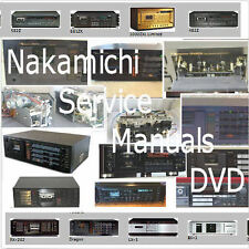 Nakamichi Service Manuals DVD Cassette Deck Schematics HiFi Audio Repair PDF CD