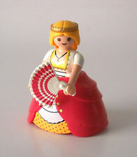 Playmobil Custom Castle Princess Victorian Lady in Pink w/ Hoop Skirt & Fan 4639