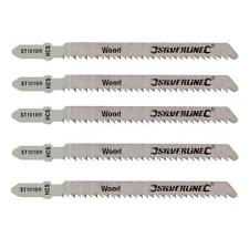 SILVERLINE 5-PACK OF ST101BR JIGSAW BLADES - HIGH CARBON STEEL,CLEAN CUT ON WOOD