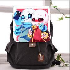 Game Undertale Sans Cosplay Canvas Backpack Laptop Shoulders Bag Schoolbag #N-22
