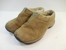 Merrell Womens Sz 7 Primo Chill Slides Tan Suede Sherling Lined Clog Slip On