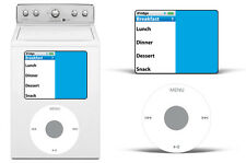 Dry Erase MP3 Player Decals For Samsung Washing Machine Classic Music Stickers