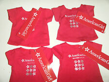 Mystery lot 4 different cities fits Bitty Twin & 18 in American Girl doll shirts