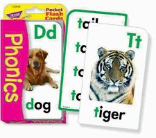 Tendencia Kids Phonics infantiles educativas Bolsillo Tarjetas Flash Juego-t23008
