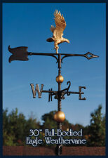 "Whitehall 30"" Eagle Weathervane Full-Bodied Gold-Bronze with Mount Ships FAST!"